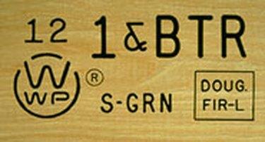 Lumber grade stamp.