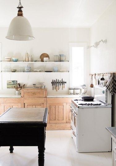 Vintage budget kitchen lighting