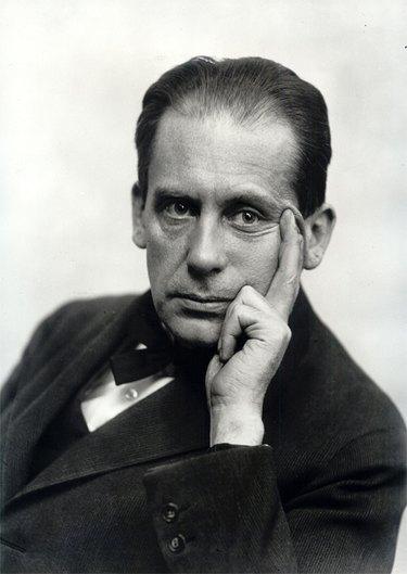 black and white photograph of Walter Gropius