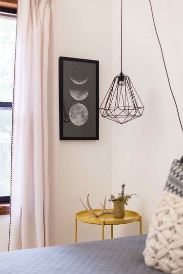 Rico is slowly replacing light fixtures to bring in an eclectic modern feel.