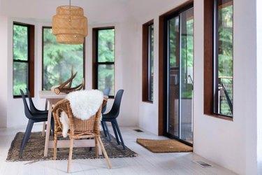 Light bamboo floors add a modern vibe.