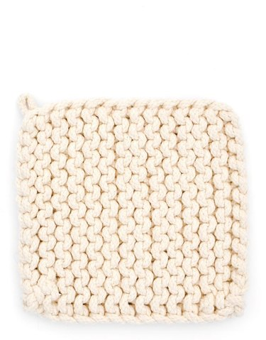 knit potholder for kitchen