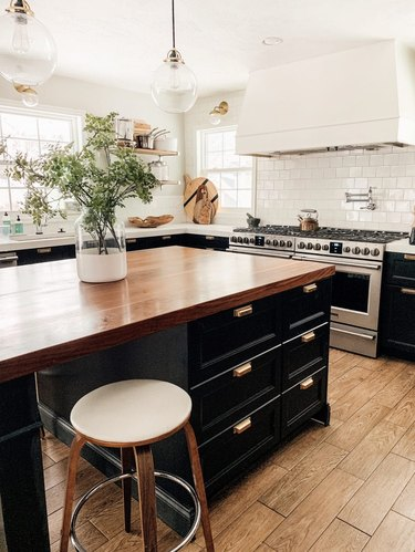 kitchen trend in 2019 black kitchen cabinets from chris loves julia