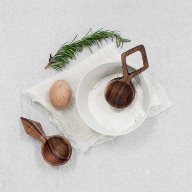 wood coffee scoop