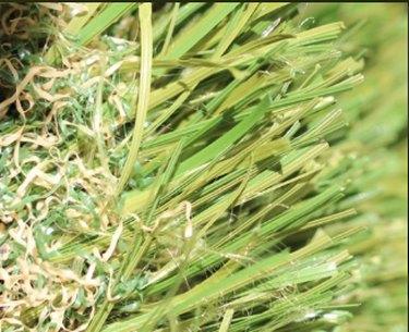 Artificial turf closeup.
