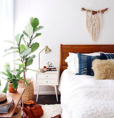 woven wall hangings boho bedroom