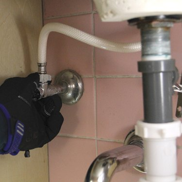 Disconnecting a faucet.