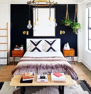 boho bedroom in downtown LA