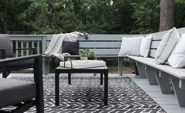 gray backyard deck