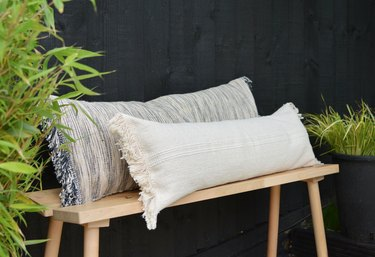 IKEA Hack: Turn Rugs Into Bench Pillows