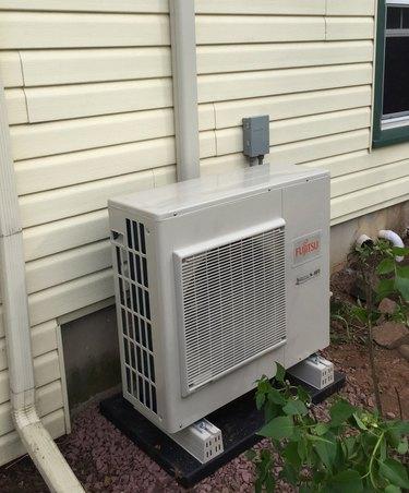 Mini-split condenser.