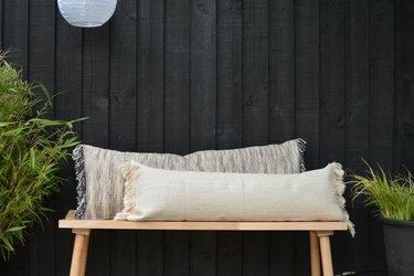 Ikea hack bench pillows