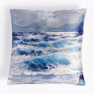 West Elm Brocade Wave Pillow Cover