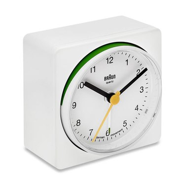 braun white alarm clock