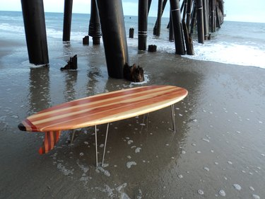 Kai Surf Decor Surfboard Coffee Table