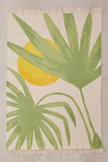 Urban Outfitters Sunrise Palm Print Rug