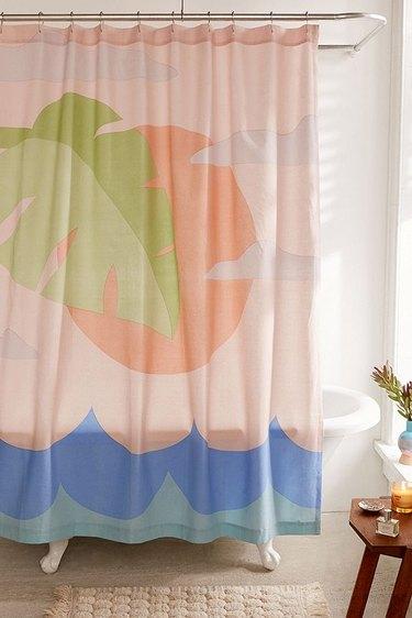 Urban Outfitters Beach Scene Shower Curtain