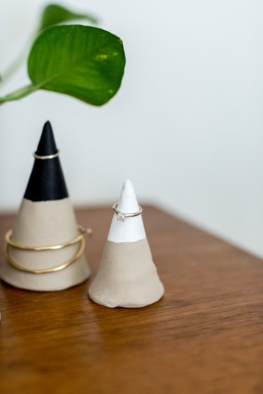 Dainty bracelets, hoop earrings, and rings are perfect to place on these jewelry cones.