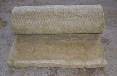 A batt of rock wool insulation.