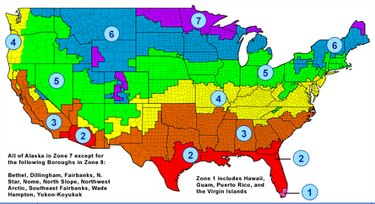 Department of Energy climatic zones.