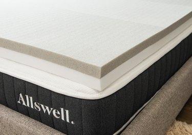 Allswell CoolTouch™ Memory Foam Mattress Topper (Queen), Graphite & Copper Gel, $159