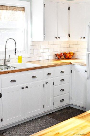 A simple white kitchen