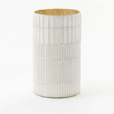 white candle holder