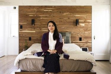 Creative director Lihui Ke in her bedroom