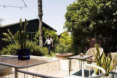 Lihui Ke in the garden