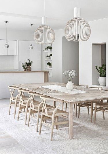 Scandinavian wishbone chairs