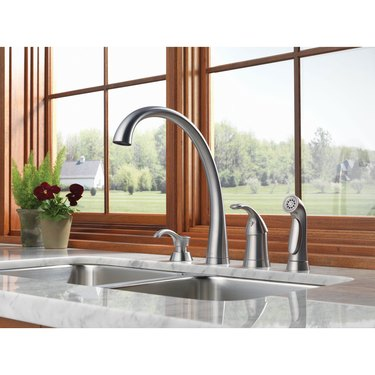 Faucet and sink accessories.