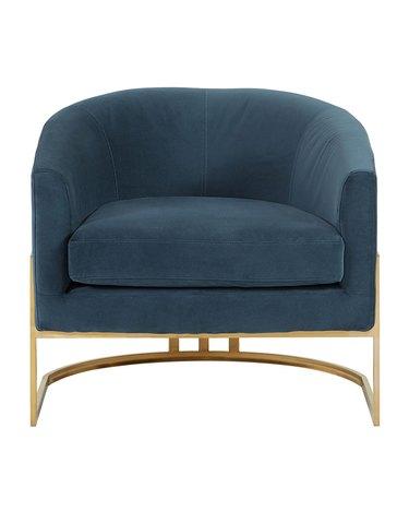 curved velvet chair art deco