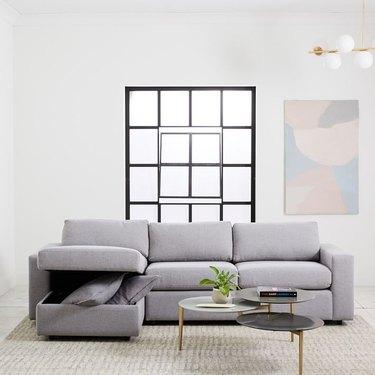 West Elm Urban Sleeper Sofa with Storage