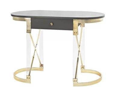 black and gold art deco desk