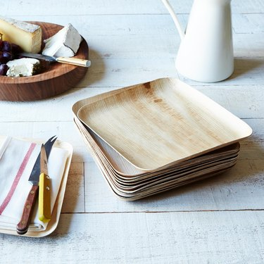 wooden plates