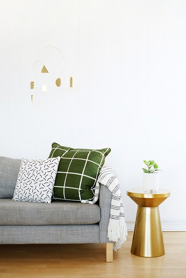 Go bold with gold in your neutral space.