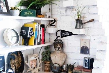 A corner filled with vintage finds.