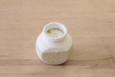 Paper towel folded inside jar