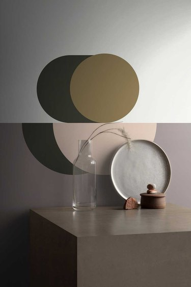 geometric wallpaper in muted colors