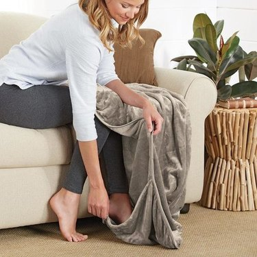 footed blanket