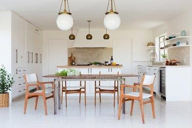 Globe-style modern kitchen lighting
