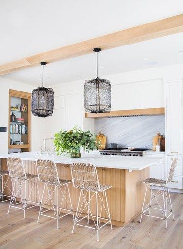 Black netted modern kitchen lighting