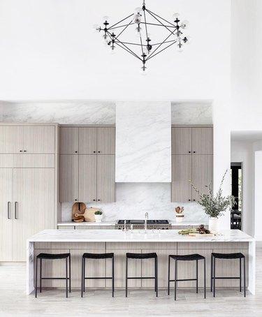 Black linear chandelier modern kitchen lighting