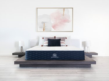Mattress on low platform bed