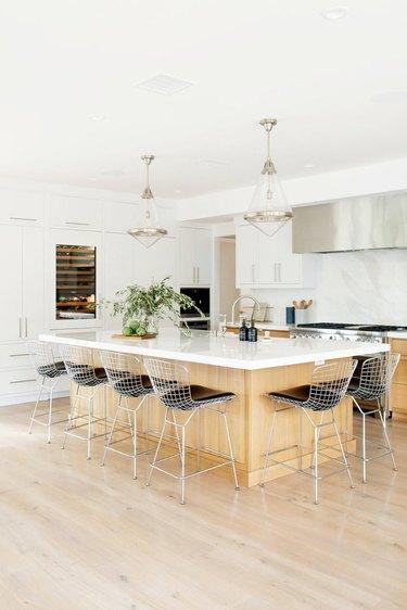 Geometric glass modern kitchen lighting