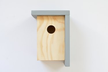 Bird house made of wood