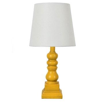 "Conrad 18.5"" Distressed Yellow Resin Table Lamp, $31.48"