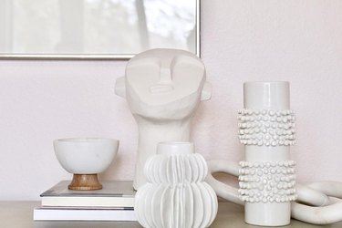 Effortless Composition White Face Sculpture home decor black owned