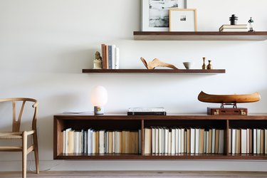 floating wood shelf