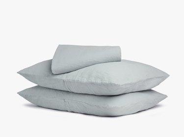 Gray linen sheets